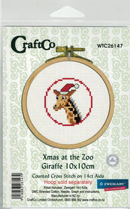 Cross-Stitch kit - Christmas as the Zoo Giraffe