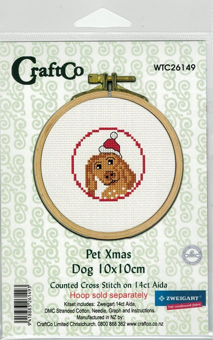 Cross-Stitch kit - Christmas as the Zoo Puppy