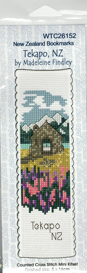 Cross-stitch bookmark - Tekapo