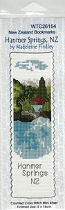 Cross-stitch bookmark - Hanmer Springs
