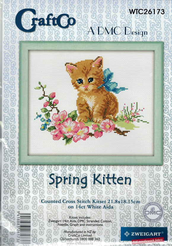 Cross Stitch Kit - Spring Kitten