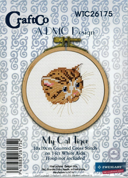Cross Stitch Kit - My Cat Tiger
