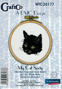 Cross Stitch Kit - My Cat Sooty