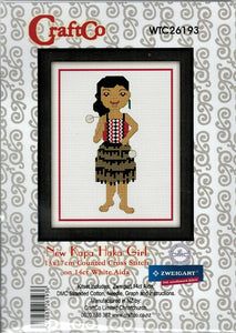Cross Stitch Kit - Kapa Haka Girl