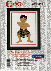 Cross Stitch Kit - Kapa Haka Boy