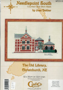 Cross-stitch kit - The Old Library, Christchurch