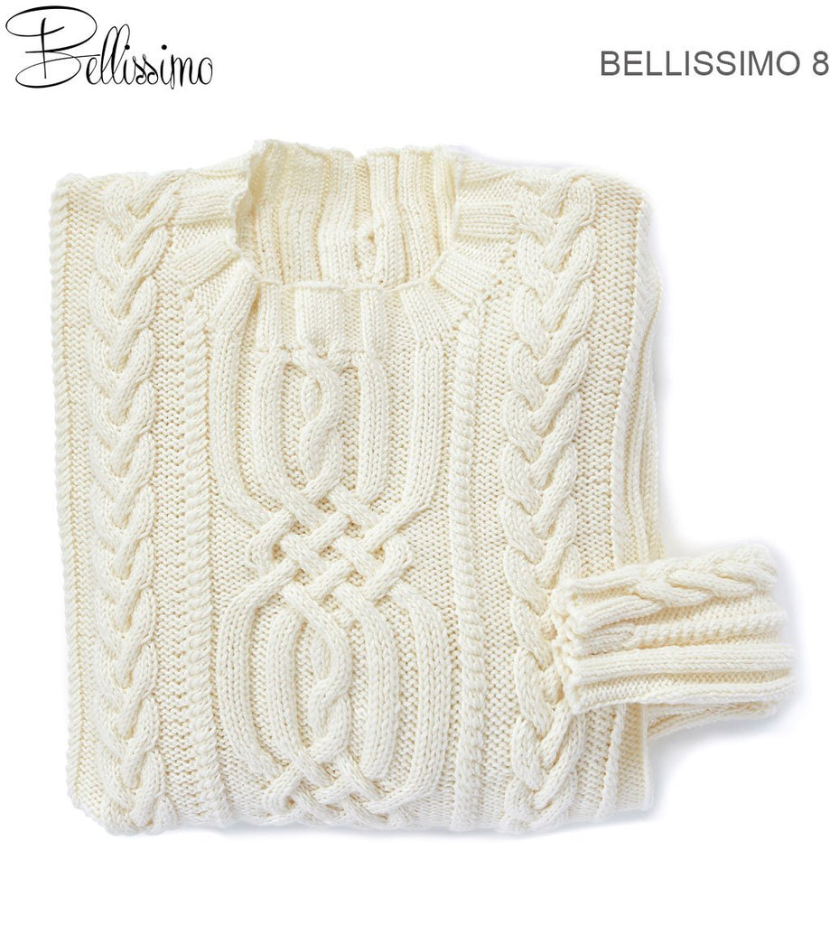 Bellissimo TX525 - Mens Cabled Pullover in 8-ply / DK