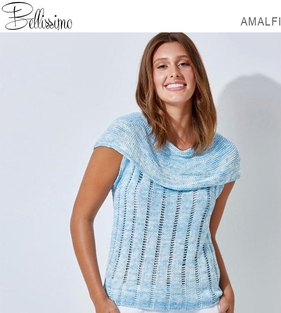 Bellissimo Amalfi TX534 - Ladies Sleeveless Summer Top in 8-ply / DK