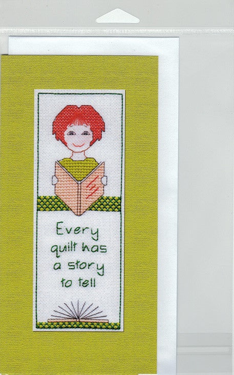 Cross-Stitch Card and Bookmark set - Every quilt has a story...