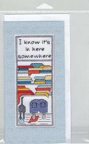 Cross-Stitch Card and Bookmark set - I know it's here somewhere...