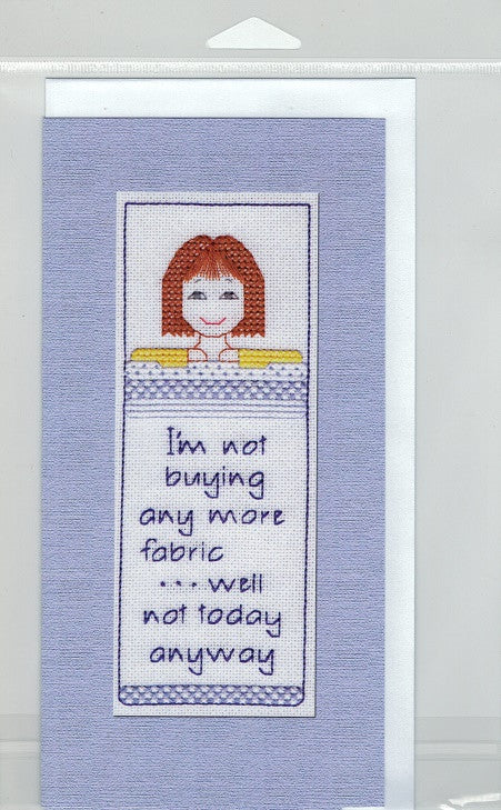 Cross-Stitch Card and Bookmark set - I'm not buying any more fabric...