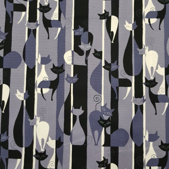 Tanoshi - Stylish Cats on grey background