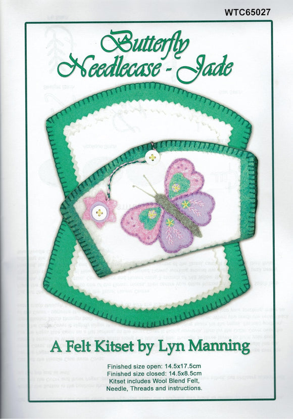 Felt Kitset - Butterfly Needlecase in Jade