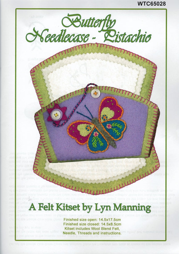 Felt Kitset - Butterfly Needlecase in Pistachio