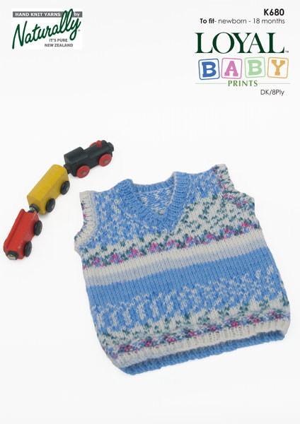 Naturally Knitting Pattern K680 - Baby Vest  in 8-ply / DK