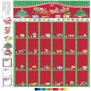 Christmas Advent Calendar (60 cm x 108 cm)