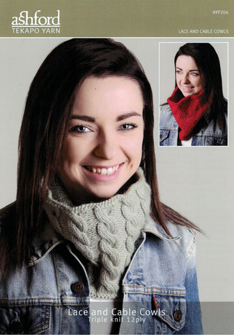 Ashford Tekapo Pattern - Lace and Cable Cowls 12-ply