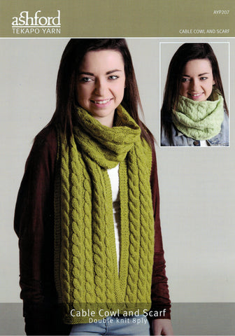 Ashford Tekapo Pattern - Cable Cowl and Scarf 8-ply