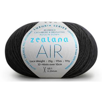 Zealana Air Lace yarn - Charcoal