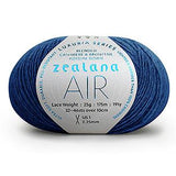 Zealana Air Lace yarn - Colbalt Blue