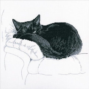 Cross Stitch Kit - Among Black Cats 2