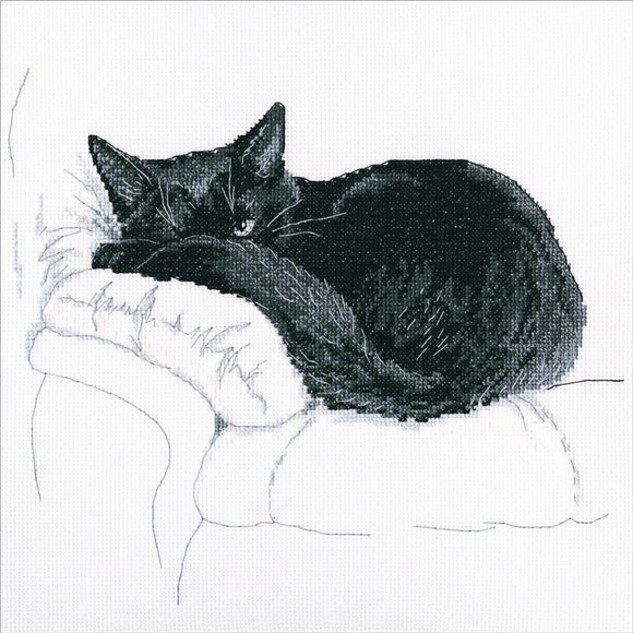 Cross Stitch Kit - Among Black Cats - I'm Sleeping!