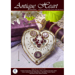 Antique Heart Kit - Embroidery Kit