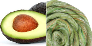 Silk Merino Scarf Felting Kit - Avocado