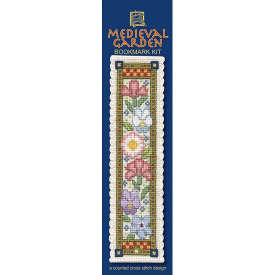 Cross-stitch bookmark kit - Medieval Garden