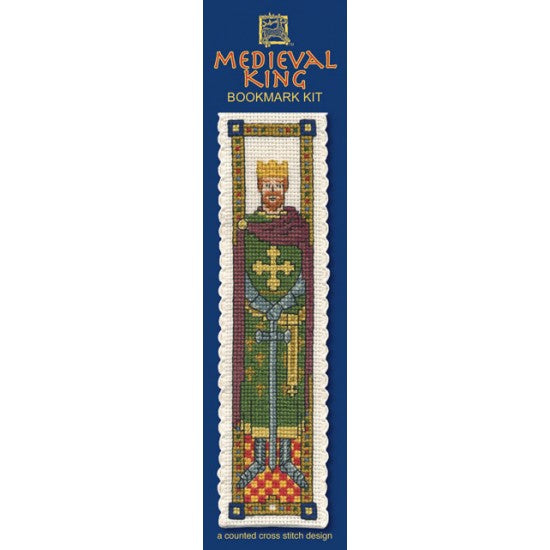 Cross-stitch bookmark kit - Medieval King