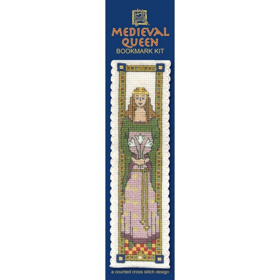 Cross-stitch bookmark kit - Medieval Queen