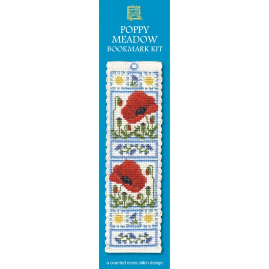 Cross-stitch bookmark kit - Poppy Meadow