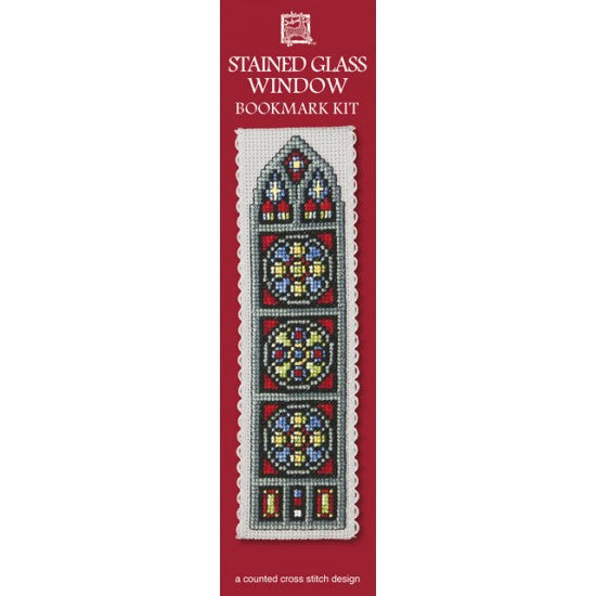 Cross-stitch bookmark kit - Stained Glass Window