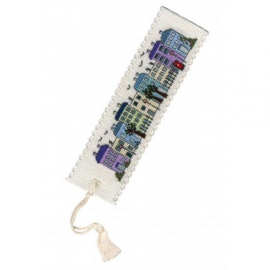 Cross-stitch bookmark kit - Townhouses