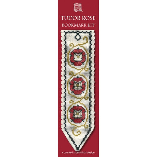 Cross-stitch bookmark kit - Tutor Rose