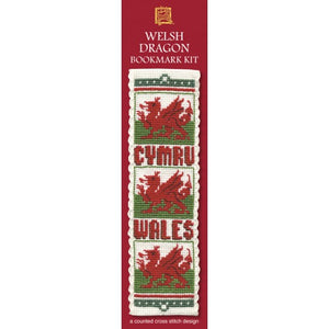 Cross-stitch bookmark kit - Welsh Dragon