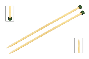 Knitpro - Bamboo straight needles - 25 cm