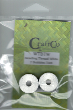 CraftCo - Beading Thread - white or black