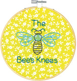 Dimensions Quick Embroidery Kit with Bamboo Hoop - The Bee's Knees