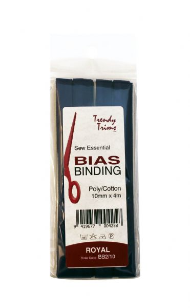 Bias Binding / Bias Tape - 10 mm wide x 4 metres long