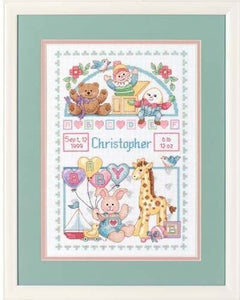 Dimensions Counted Cross Stitch Kit - Birth Record for Baby