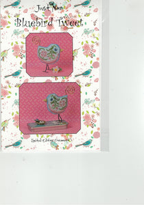Just Nan Cross-stitch chart - Bluebird Tweet