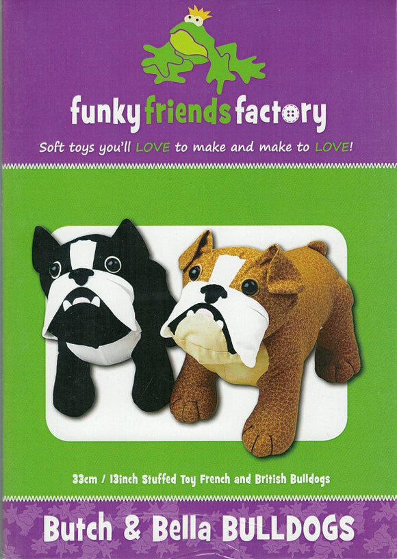 Butch & Bella the Bulldogs Sewing Pattern