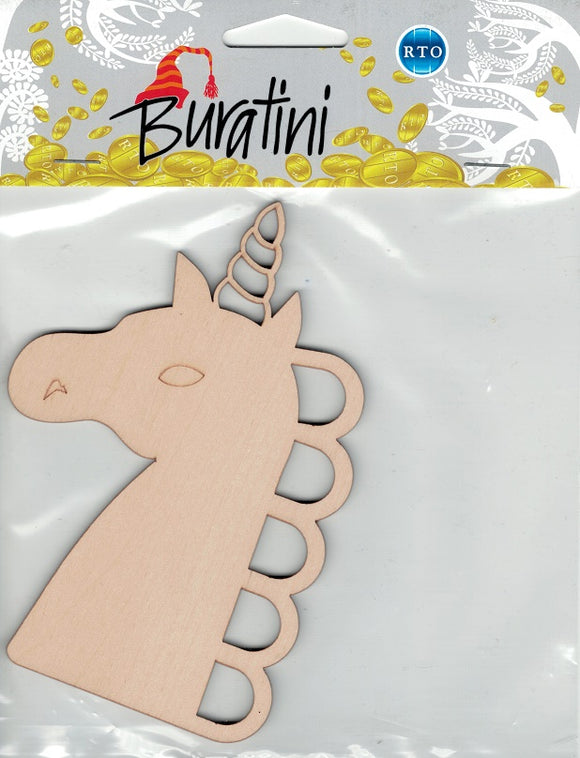 Buratini Floss Organizer - Paintable Unicorn