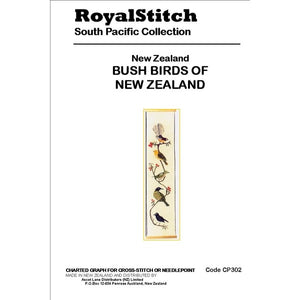 Cross-stitch chart - Royal Stitch New Zealand Bush Birds