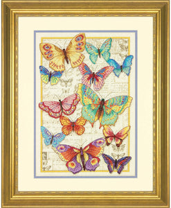 Dimensions Gold Collection Counted Cross Stitch Kit - Butterfly Beauty