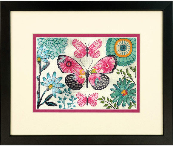Dimensions Mini Counted Cross Stitch Kit - Butterfly Dream
