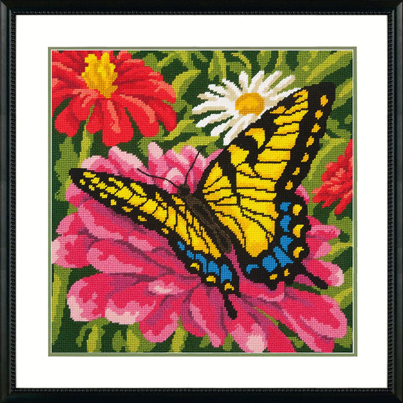 Dimensions Mini Needlepoint Kit - Butterfly on Zinnia