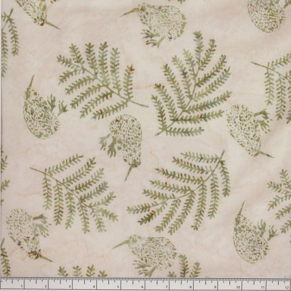 Kiwi Birds and Ferns - Sage colour