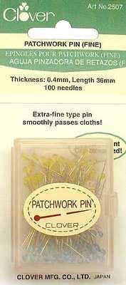 Clover 2507 - Patchwork Pins with Glass Head - Fine